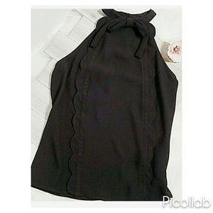 Victoria Beckham for Target Tops - Victoria Beckham Black Neck Tie Sleeveless Blouse